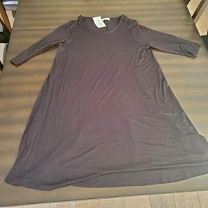 Pinc Black 3/4 Sleeve Dress - 1X